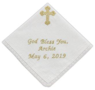 Baptism, Communion Handkerchief SZC-1