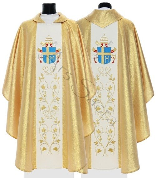 """Gothic Chasuble """"John Paul II's coat of arms"""" 569-G"""