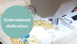 Dedykacja haftowana