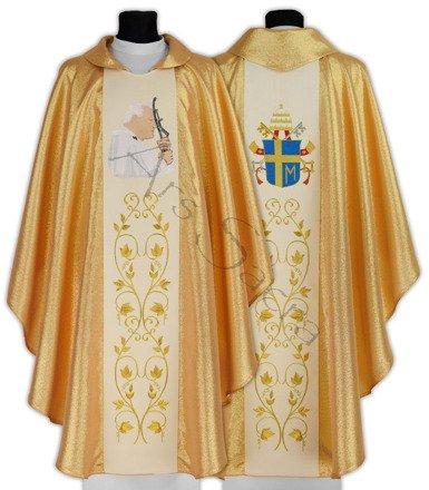 """Ornat gotycki """"Papież Jan Paweł II"""" 568-G"""