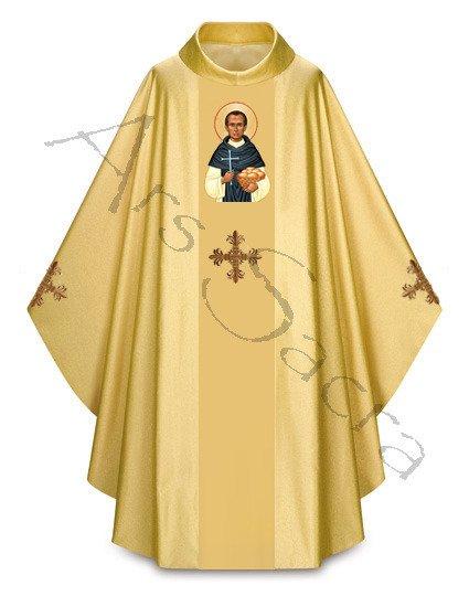 """Casulla gótica """"Santa Martin de Porres"""" 431-G63g"""