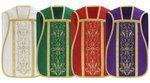 Conjunto de 4 casullas romanas SET-RH1-25
